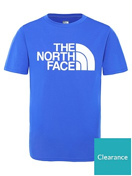 the-north-face-short-sleeve-reax-20-t-shirt-bluewhite