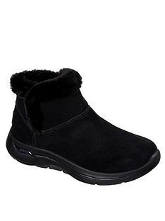 skechers-gowalk-arch-fit-faux-fur-ankle-boot-black