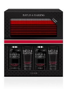 baylis-harding-signature-mens-black-pepper-amp-ginseng-scarf-gift-set