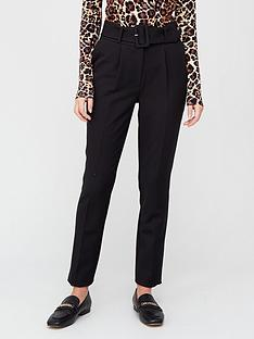 v-by-very-soft-belted-high-waist-tapered-trouser-black