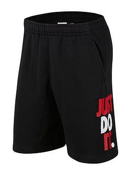 nike-sportswear-just-do-it-short-fleece-black