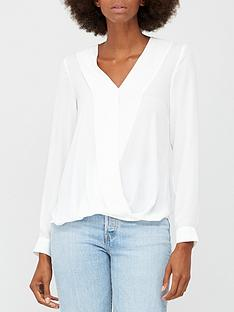 v-by-very-wrap-long-sleeve-blouse-white