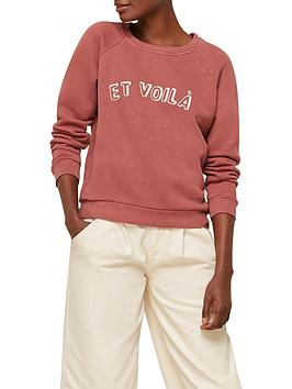 whistles-et-voila-logo-sweatshirt-pink