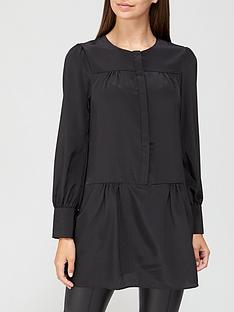 v-by-very-pintuck-tiered-tunic-black