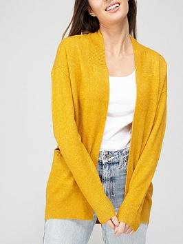 v-by-very-longline-pointelle-cardigan-mustard