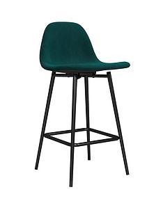 calvin-velvet-bar-stool--green