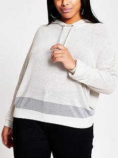 ri-plus-plusnbsplurex-stripe-hoodie-silver
