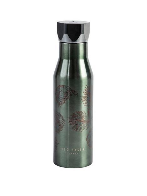 ted-baker-water-bottle-hexagonal-lid-khaki-amp-palm-425ml