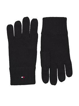 tommy-hilfiger-pima-cotton-knitted-gloves-black