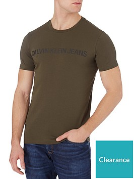 calvin-klein-jeans-institutional-logo-slim-t-shirt-green