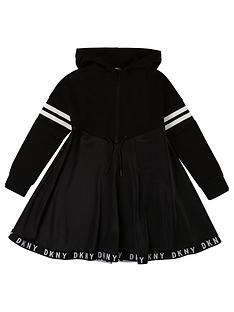 dkny-girls-hooded-logo-tape-sweat-dress