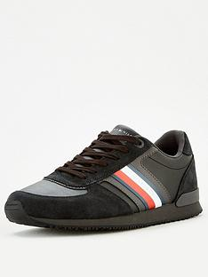 tommy-hilfiger-icon-mix-suede-runner-trainers-blacknbsp