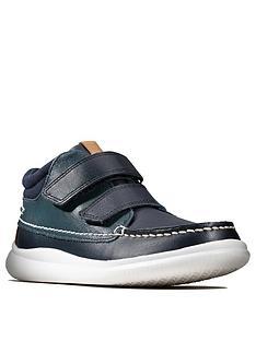 clarks-crest-tuktu-kids-boot-navy