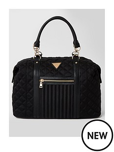 river-island-zip-front-quilted-nylon-gym-holdall-black
