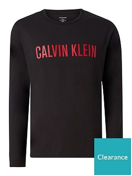 calvin-klein-logo-long-sleevednbsplounge-top-black
