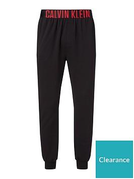 calvin-klein-logo-lounge-cuffed-joggers-black
