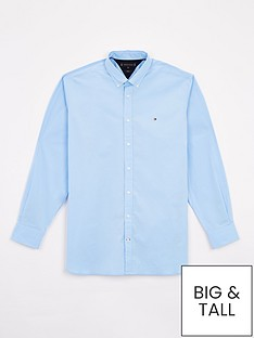 tommy-hilfiger-big-amp-tallnbspstretch-poplin-shirt-regatta-blue