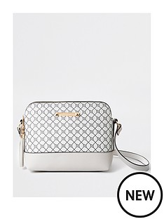 river-island-monogram-double-compartment-cross-body-bag-grey