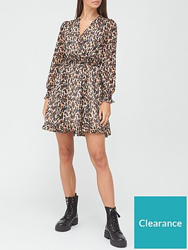 v-by-very-wrap-mini-dress-leopard
