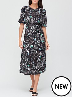 v-by-very-printed-round-neck-midi-dress-black-floral