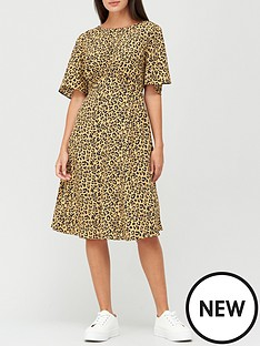 v-by-very-round-neck-angel-sleeve-midi-dress-animal-print