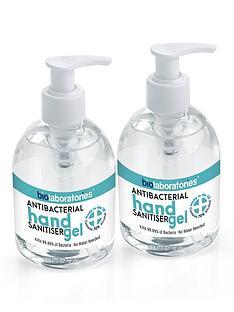 bio-laboratories-2-x-clear-antibacterial-hand-sanitiser-gel-250ml