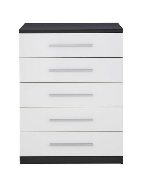 messina-glossnbspchest-of-5-drawers-blackwhite