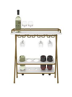 cosmoliving-by-cosmopolitan-trevia-folding-wine-rackserving-tablenbsp-nbspwhitegold