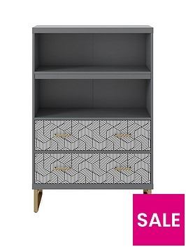 cosmoliving-by-cosmopolitan-scarlett-bookcase-with-drawers--nbspgraphitenbspgrey