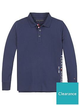 tommy-hilfiger-boys-long-sleeve-essential-logo-polo-navy