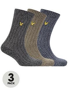 lyle-scott-mcgill-3-pack-melange-sock-multi