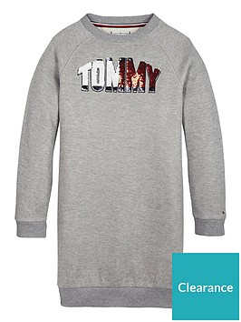 tommy-hilfiger-girls-sequin-logo-sweat-dress-grey-marl
