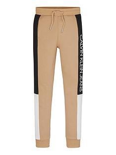 calvin-klein-jeans-boys-colourblock-logo-jogger-sand