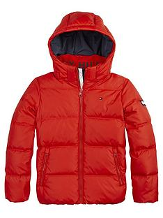 tommy-hilfiger-boys-essential-down-hooded-coat-red