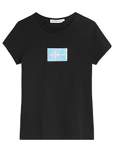 calvin-klein-jeans-girls-monogram-badge-slim-t-shirt-black