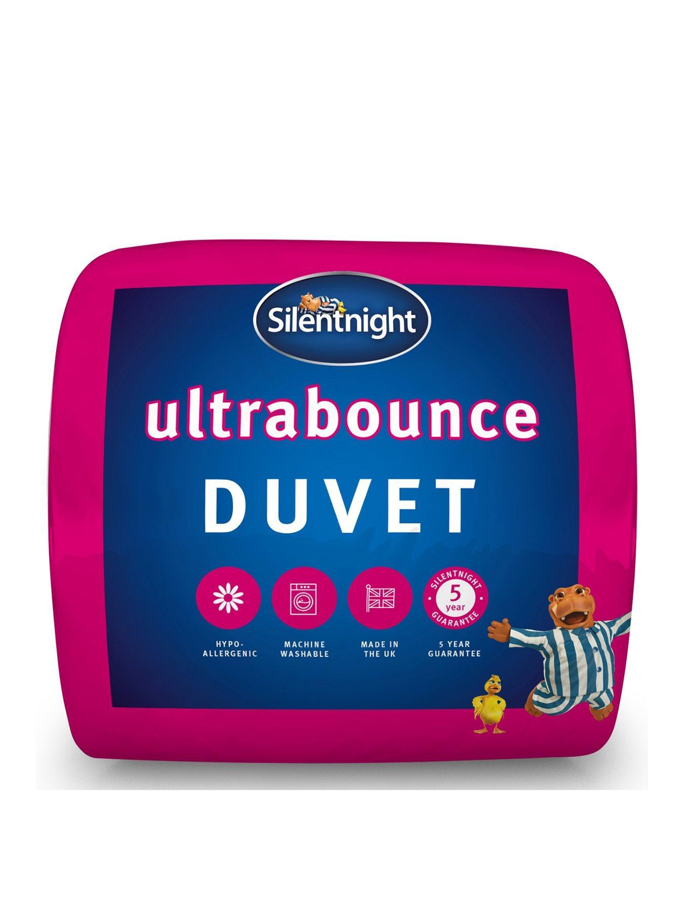 Silentnight Ultrabounce 10.5 Tog Duvet Quilt /& Pillow Pair Bundle
