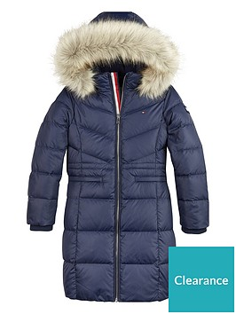 tommy-hilfiger-girls-longline-down-faux-fur-trim-hooded-coat-navy