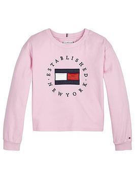 tommy-hilfiger-girls-heritage-logo-long-sleeve-t-shirt-pink