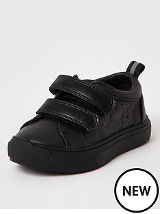 river-island-mini-mini-boys-monogram-trainers-black
