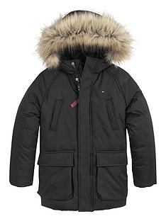 tommy-hilfiger-boys-faux-fur-hooded-parka-black