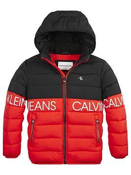 calvin-klein-jeans-boys-colourblock-hooded-jacket-red