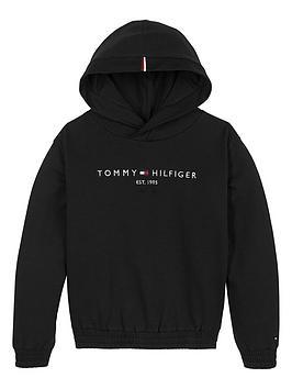 tommy-hilfiger-girls-essential-logo-hoodie-black