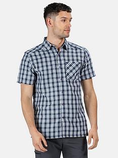 regatta-mindano-short-sleeve-shirt-blue