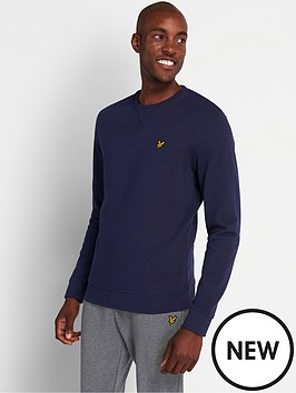 lyle-scott-crew-neck-sweatshirt-navynbsp