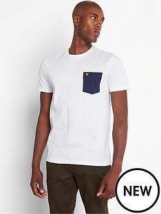 lyle-scott-contrast-pocket-t-shirt