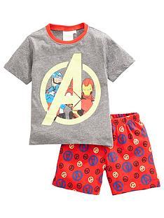 the-avengers-boys-marvel-avengers-shortie-pjs-greymulti