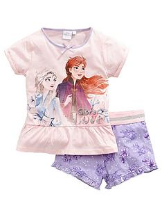 disney-frozen-girlsnbspfrill-shortie-pjs-pink