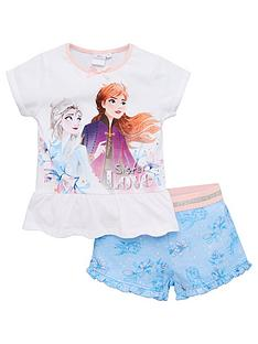 disney-frozen-girlsnbspfrill-shortie-pjs-white