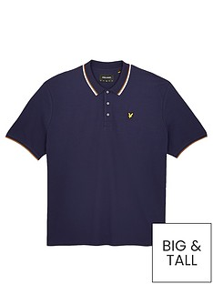 lyle-scott-big-amp-tall-tipped-polo-shirt-navywhitenbsp
