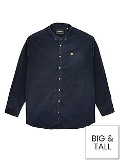 lyle-scott-big-amp-tallnbspneedle-cord-shirt-navynbsp